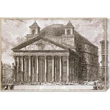 'A View of The Pantheon, Rome' by Giovanni Battista Piranesi Stretched Canvas Art