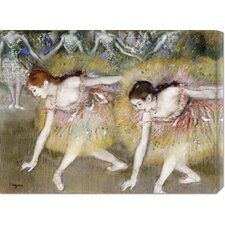 'Dancers Bending Down' by Edgar Degas Stretched Canvas Art