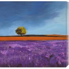 <strong>Bentley Global Arts</strong> 'Field of Lavender (Left Detail)' by Philip Bloom Stretched Canvas Art