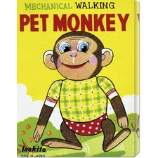 <strong>Bentley Global Arts</strong> 'Mechanical Walking Pet Monkey' by Retrobot Stretched Canvas Art