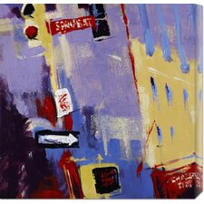 <strong>Bentley Global Arts</strong> 'Spring Street Signage' by Patti Mollica Stretched Canvas Art