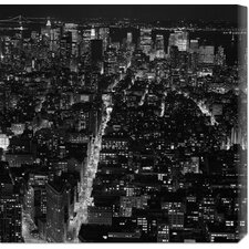 'Manhattan by Night' by Philippe Levy-Stab Stretched Canvas Art