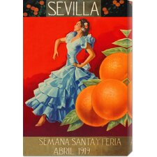 'Sevilla - Fair Week' by Retrolabel Stretched Canvas Art