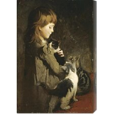 <strong>Bentley Global Arts</strong> 'The Favorite Kitten' by Abbott Handerson Thayer Stretched Canvas Art