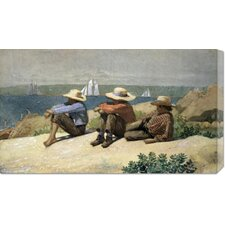 'On the Beach' by Winslow Homer Painting Print on Canvas