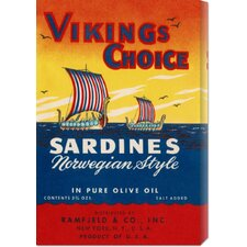 <strong>Bentley Global Arts</strong> 'Vikings Choise Sardines' by Retrolabel Stretched Canvas Art