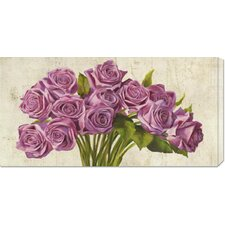 <strong>Bentley Global Arts</strong> 'Roses' by Leonardo Sanna Stretched Canvas Art