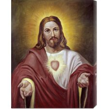 'Sacred Heart of Jesus' by Vittorio Bianchini Stretched Canvas Art