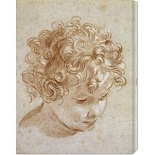 'The Head of a Child' by Niccolo Berrettoni Stretched Canvas Art
