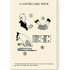 <strong>Bentley Global Arts</strong> 'A Cleaver Card Trick' by Retromagic Stretched Canvas Art