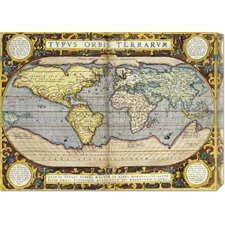 <strong>Bentley Global Arts</strong> 'Theatrum Orbis Terrarum' by Abraham Ortelius Stretched Canvas Art