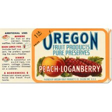 'Peach - Loganberry Preserves' by Retrolabel Stretched Canvas Art