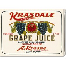 'Kransdale Brand Grape Juice' by Retrolabel Vintage Advertisement on Canvas
