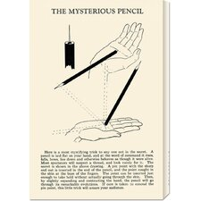 'The Mysterious Pencil' by Retromagic Stretched Canvas Art