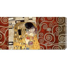 'The Kiss Pewter' by Klimt Painting Print on Canvas