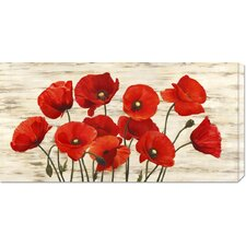 <strong>Bentley Global Arts</strong> 'French Poppies' by Serena Biffi Stretched Canvas Art