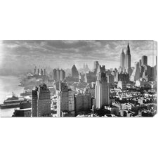 <strong>Bentley Global Arts</strong> 'East River Waterfront and Manhattan, 1931' by Samuel Gottscho Stretched Canvas Art