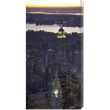 <strong>Bentley Global Arts</strong> 'Aerial view of midtown Manhattan' by Cameron Davidson Stretched Canvas Art