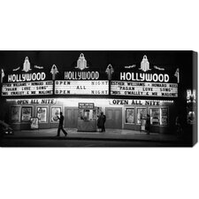 <strong>Bentley Global Arts</strong> 'All Night Cinema in Hollywood' by Kurt Hutton Stretched Canvas Art