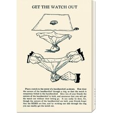 'Get the Watch Out' by Retromagic Stretched Canvas Art