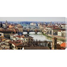 <strong>Bentley Global Arts</strong> 'Ponte Vecchio, Florence' by Vadim Ratsenskiy Stretched Canvas Art