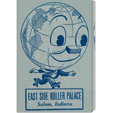 'East Side Roller Palace' by RetroRollers Vintage Advertisement on Canvas