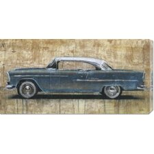 <strong>Bentley Global Arts</strong> 'Vintage Blue' by Dario Moschetta Stretched Canvas Art