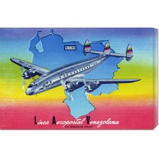 'Linea Aeropostal Venezolana; The Venezuelan Airline' by Retro Travel Vintage Advertisement on Canvas