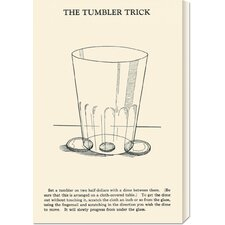 'The Tumbler Trick' by Retromagic Stretched Canvas Art