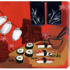 'Sushi Lanterns' by Krista Johnson Stretched Canvas Art