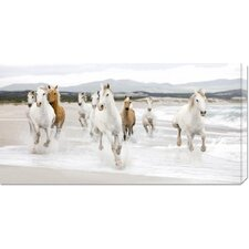 <strong>Bentley Global Arts</strong> 'Horses on the Beach (detail)' by Zero Creative Studio Stretched Canvas Art