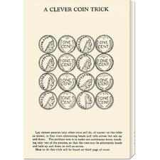 'A Clever Coin Trick - 16 Pennies' by Retromagic Stretched Canvas Art