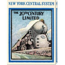 'New York Central System - The 20th Century Limited' by Retro Travel Stretched Canvas Art