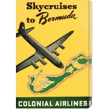 <strong>Bentley Global Arts</strong> 'Skycruises to Bermuda' by Retro Travel Stretched Canvas Art