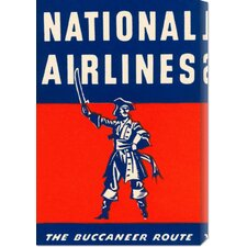 'Nation Airlines - The Buccaneer Route' by Retro Travel Stretched Canvas Art