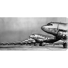 'Fleet of Passenger Transport Planes, 1936' Photographic Print on Canvas