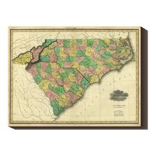 <strong>Bentley Global Arts</strong> 'Map of North & South Carolina, 1823' by Henry S. Tanner Stretched Canvas Art