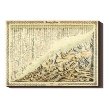 'Mountains & Rivers, 1856' by G.W. Colton Stretched Canvas Art