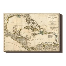 <strong>Bentley Global Arts</strong> 'A Complete Map of the West Indies, 1776' by Robert Sayer Stretched Canvas Art