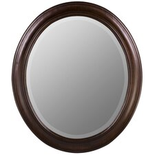 <strong>Cooper Classics</strong> Chelsea Oval Mirror in Tobacco Finish
