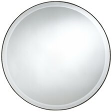 <strong>Cooper Classics</strong> Seymour Round Mirror in Dark Brown