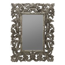 Tara Wall Mirror in Distressed Silver Crackle