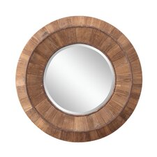 Andrea Mirror in Distressed Natural Rustic Wood
