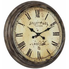 Frye Clock in Distressed Aged Bronze
