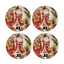 Regal Holiday Santa Accent Plate (Set of 4)