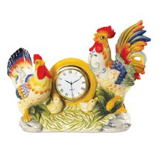Ricamo Rooster Clock