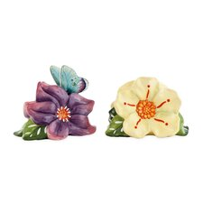 Courtyard Flower Salt and Pepper Shakers