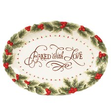 "Baked With Love 13"" Oval Cookie Platter"