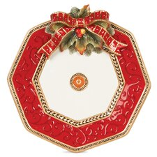"Damask Holiday 14"" Platter"