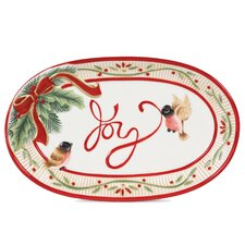 Santa's Forest Friends Sentiment Oval Serving Tray